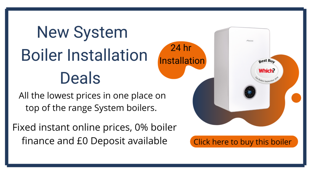 new system boiler installation costs